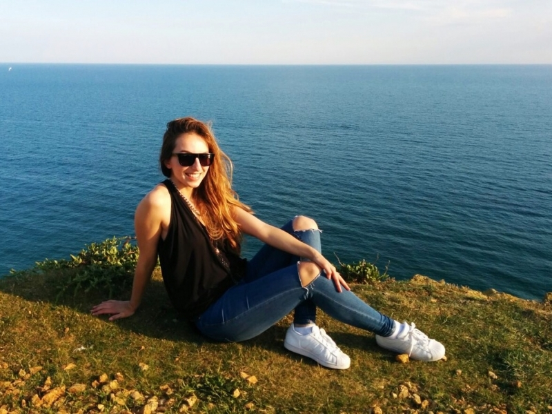 Getting my tan on on East Cliff