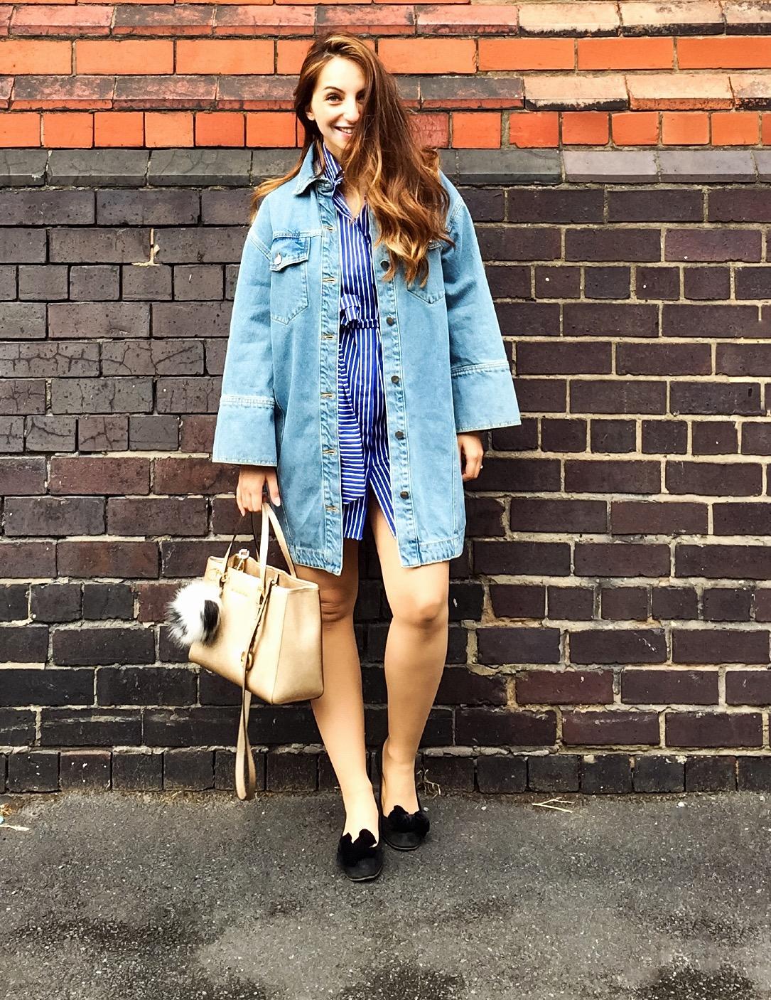 oversized dress , Topshop, stylethebump , pregnancy look, post pregnancy look , ootd