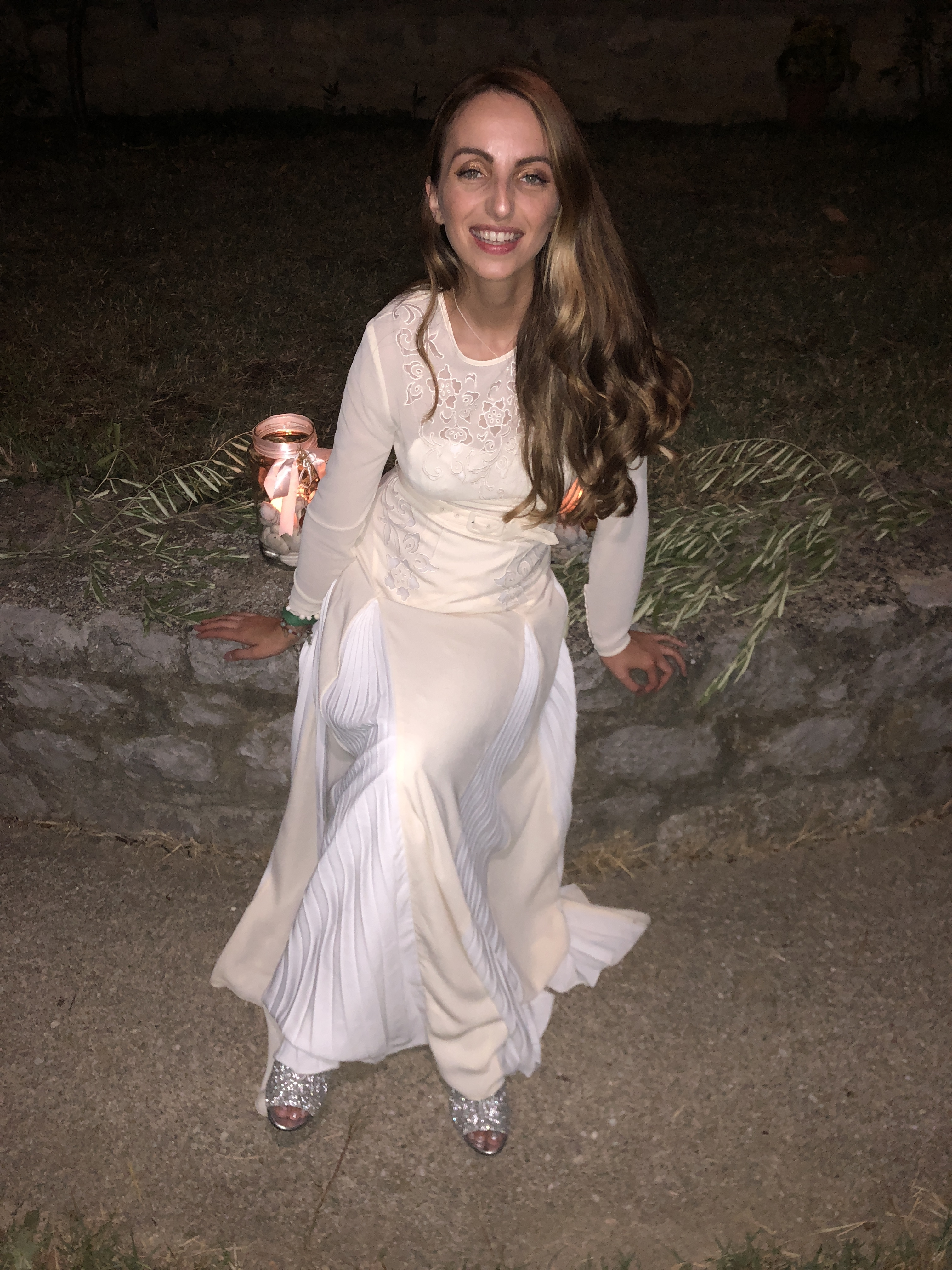 greek wedding, self-portrait dress , MM6 Maison Margiela
