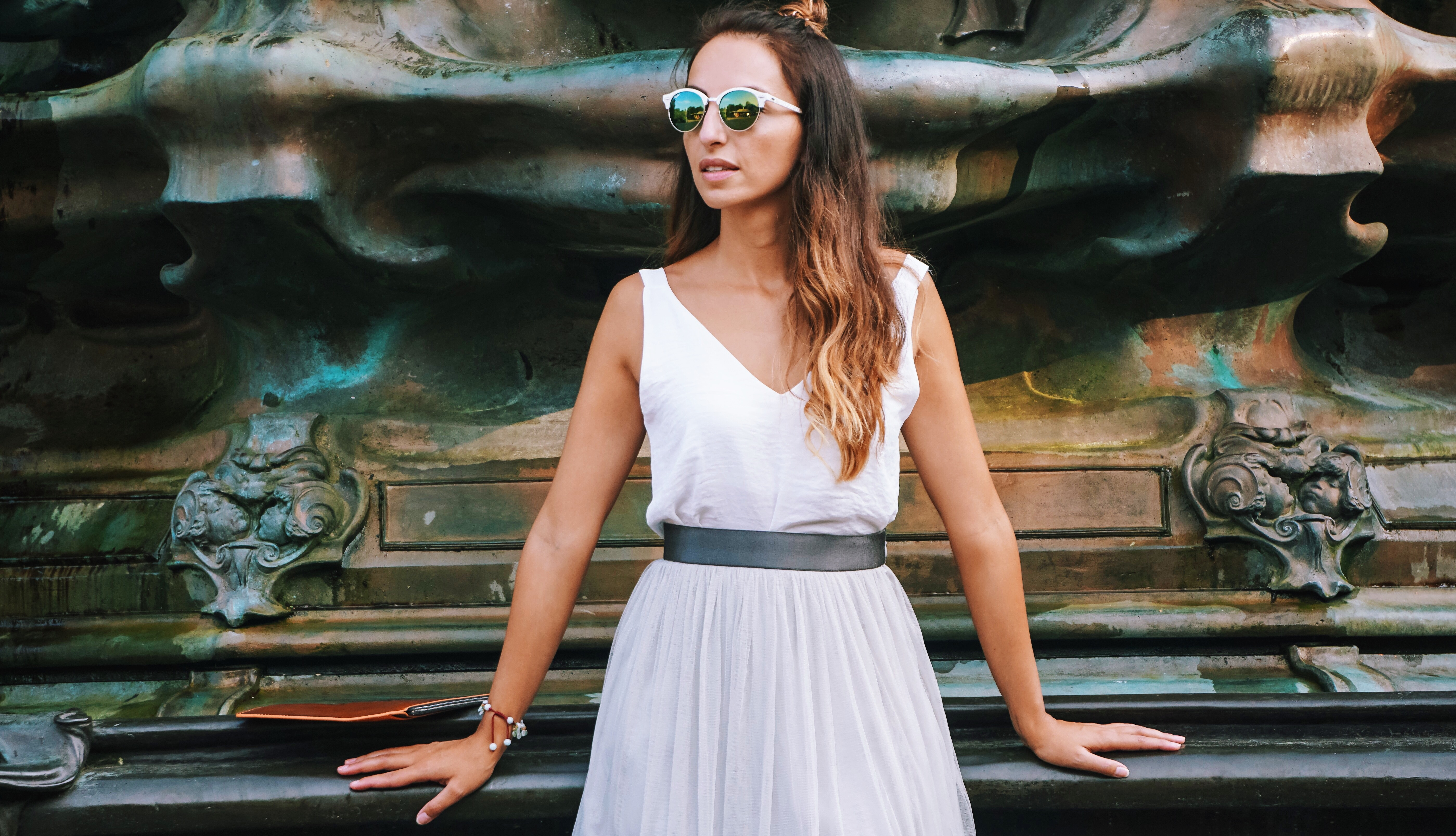 hyphy hip , tulle skirt , HyphyHip, RayBan, reiss, fashion blogger , ootd, outfit post