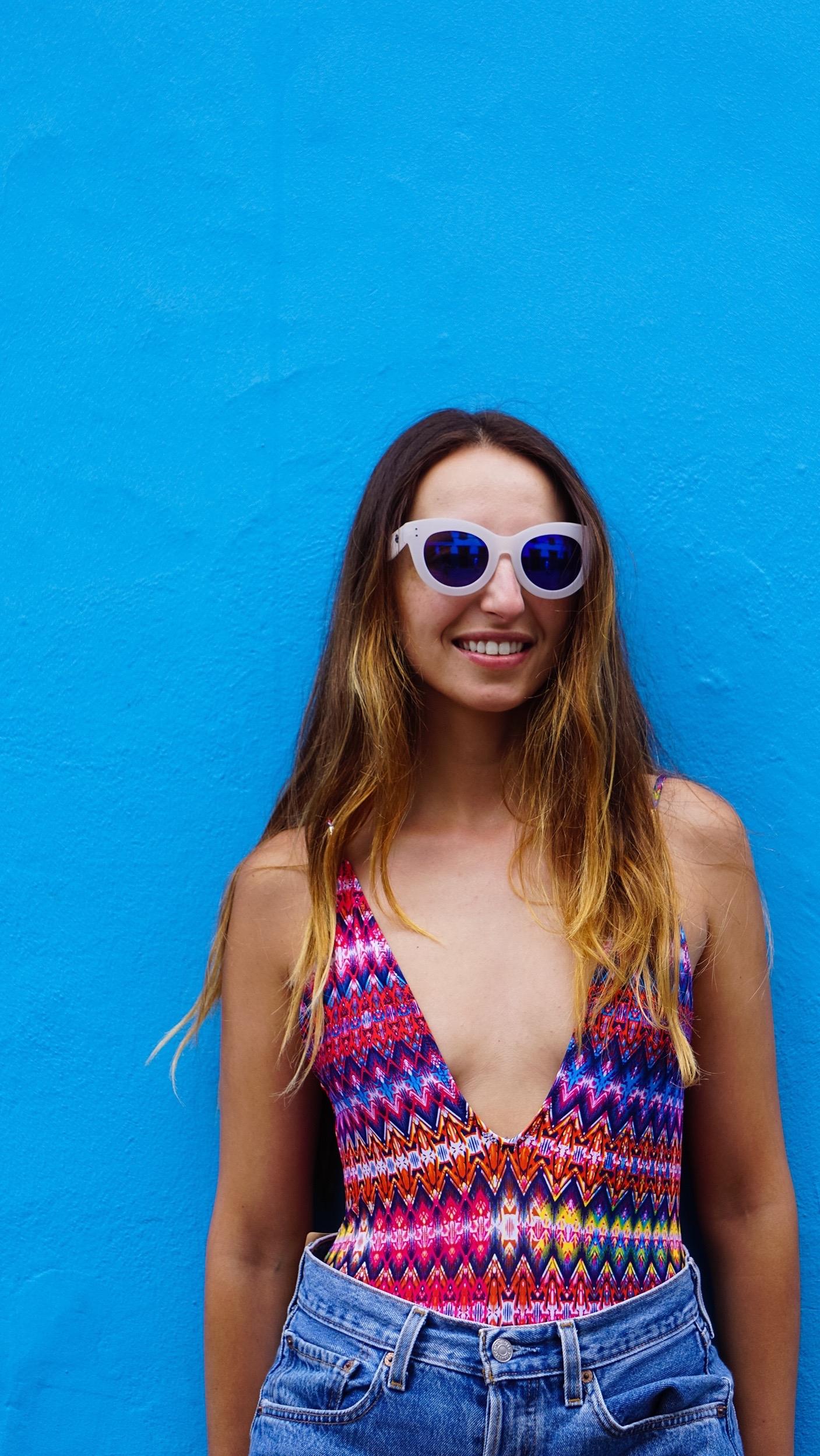 Topshop, plunge swimsuit, Teror, Gran Canaria