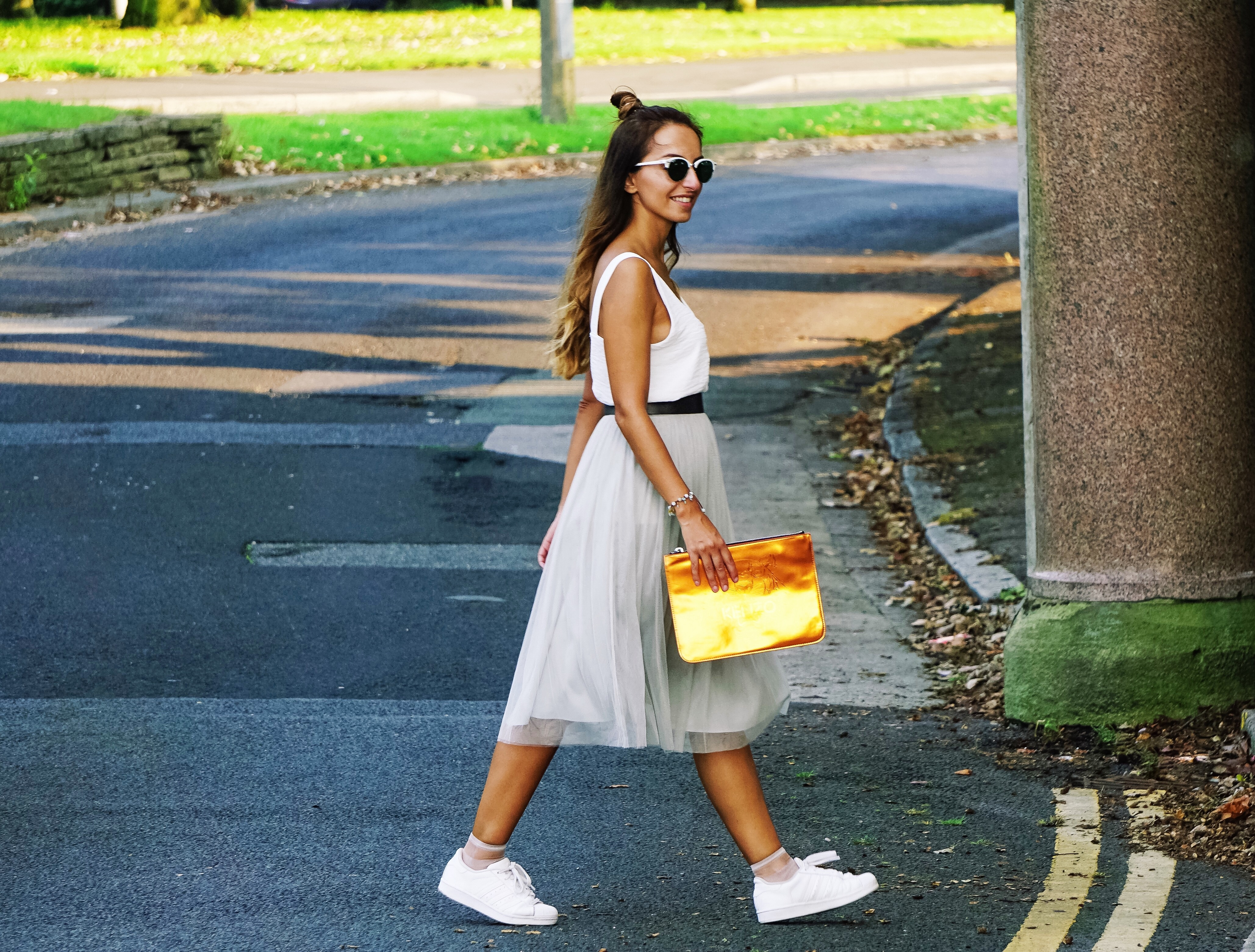 hyphy hip , tulle skirt , HyphyHip, RayBan, reiss, fashion blogger , ootd, outfit post, streetstyle, kenzo