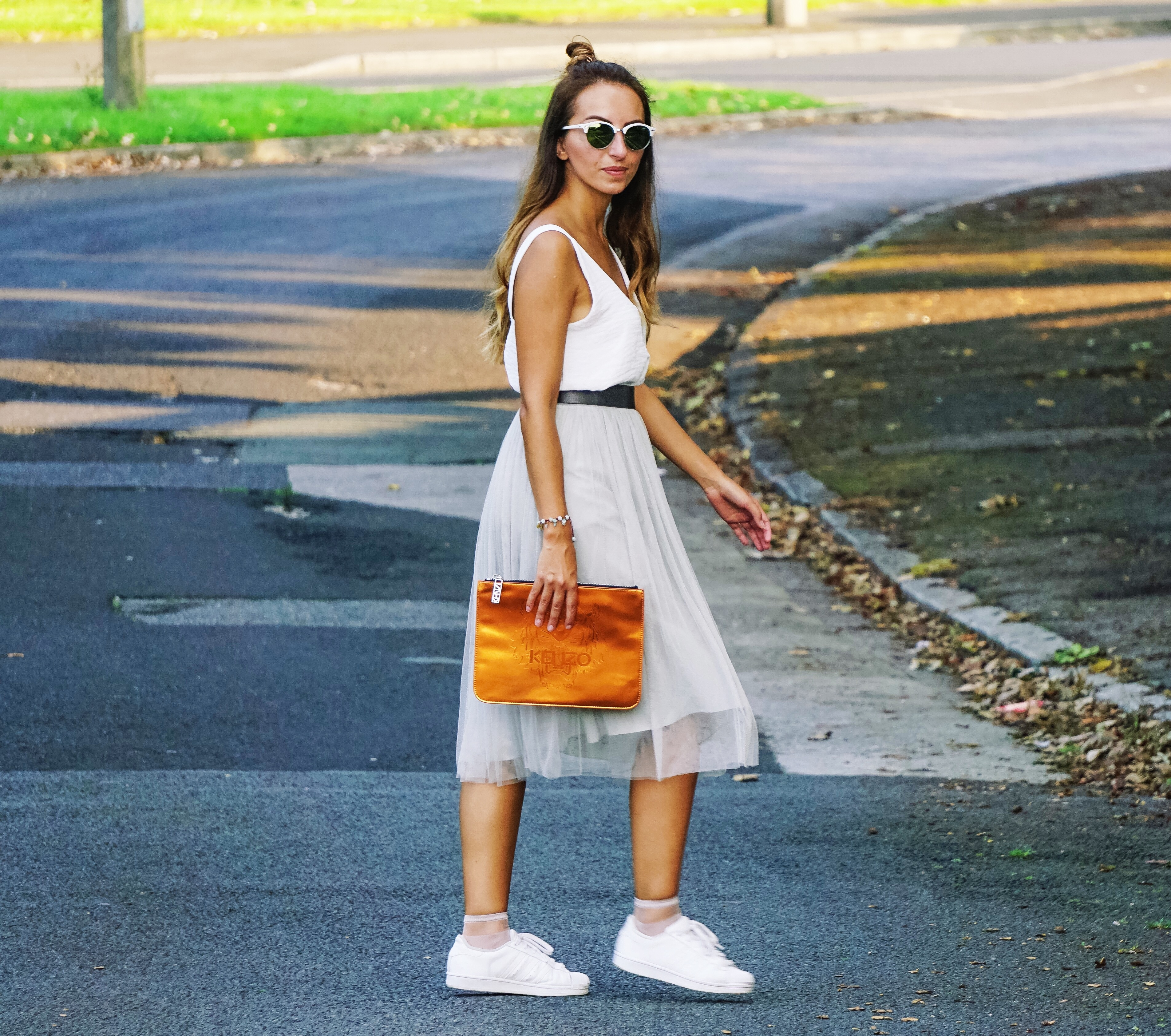 hyphy hip , tulle skirt , Kenzo , Street Style , HyphyHip, RayBan, reiss, fashion blogger , ootd, outfit post